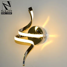 Neke best choice modern chrome color indoor led recessed wall light