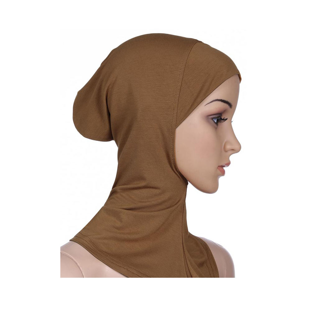 Soft Muslim Full Cover neck Inner Women's bonnet Islamic Underscarf cotton modal hijab caps