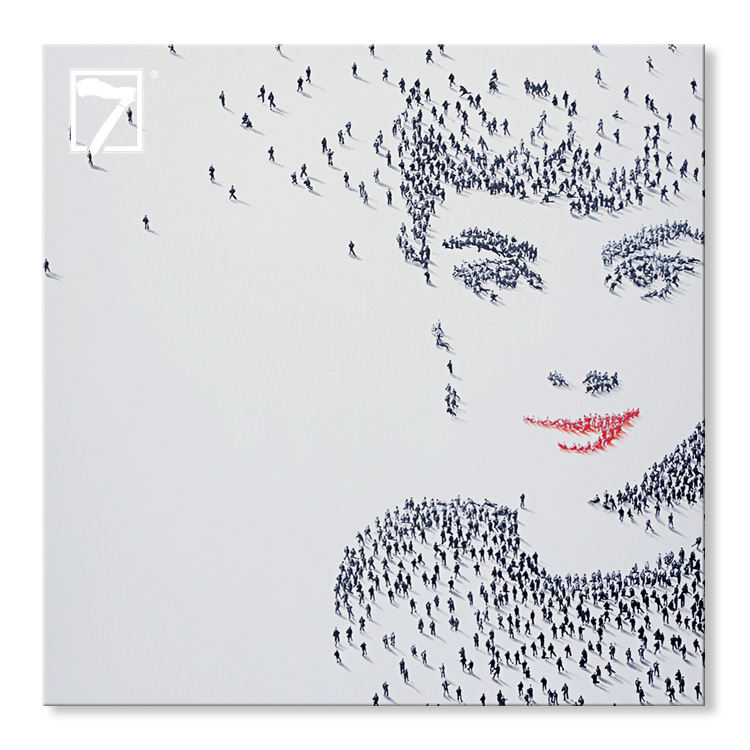 Innovative Shadow Art Acrylic Painting Hepburn Hand Painted Oli Painting