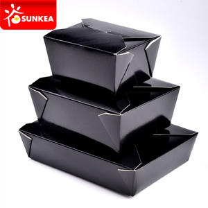Wholesale deli boxes,brown Kraft paper food boxes, paper hot food containers