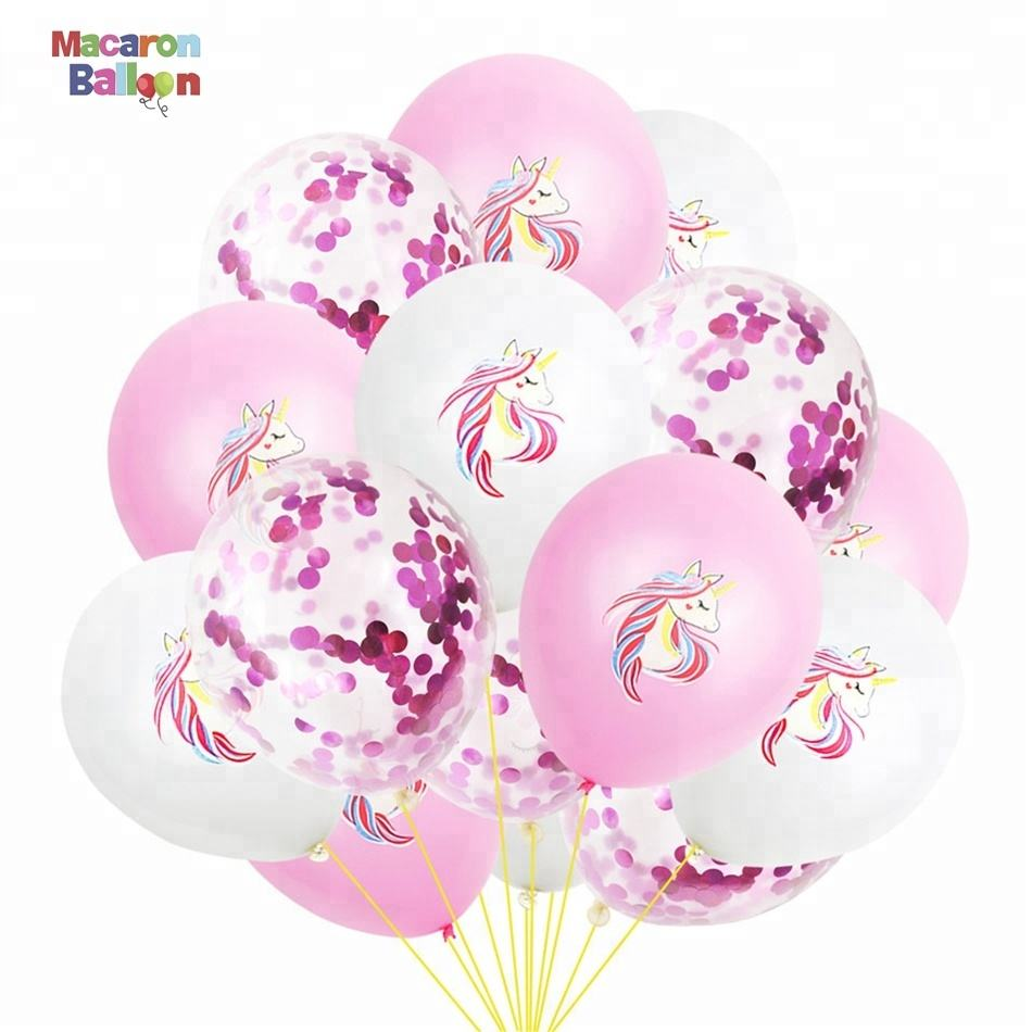 Hot Sale Unicorn Balloons Birthday Party Pink Unicorn Balloon Kids Party Favors Gifts Baby Shows Backdrop Decoration KK400