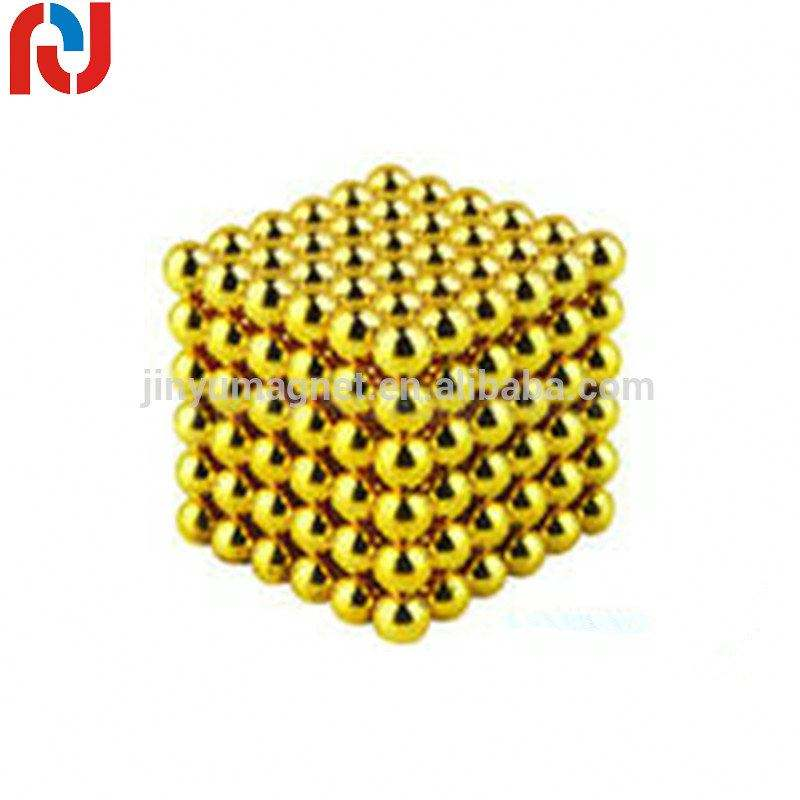 ball shape yellow Au coated all kinds of colours sphere magnet