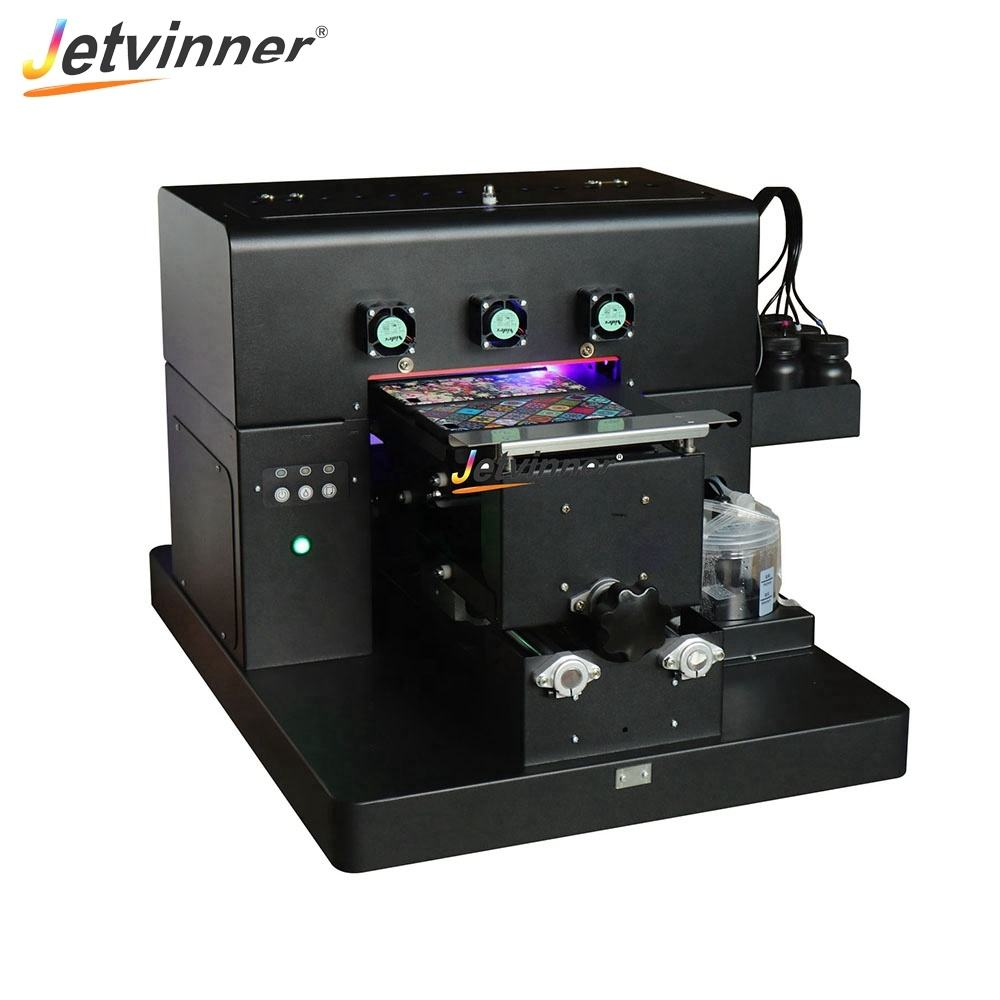 Jetvinner A4 uv printer Manual UV Flatbed Printing machine for precise printing on Metal 6 colors For Epson L805