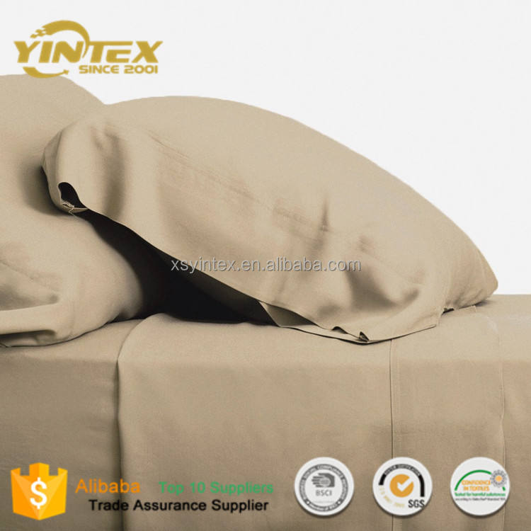 High Quality New Style Home and Hotel Used Bamboo Fabric Bed Sheets