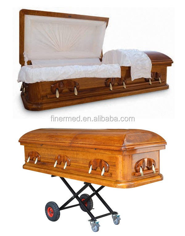Solid Funeral Wooden Coffin
