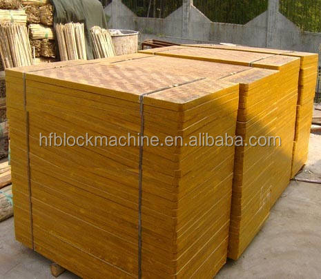 bamboo wooden concrete block pallet