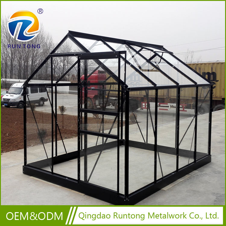Factory Price Walk-in Glass Panels Garden Agricultural Greenhouse