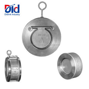 Stainless Steel CF8 DN100 PN16 Dual Plate Single Or Double Swing Spring Wafer Check Valve Pricestainless steel