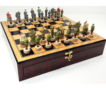 custom figurine US Vs Germany WW2 Chess Set manufacturer