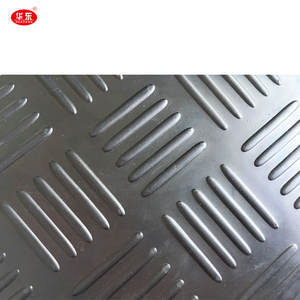 Checker plate Five Bar Anti slip Vulcanized Rubber Sheet/Mat/Roll