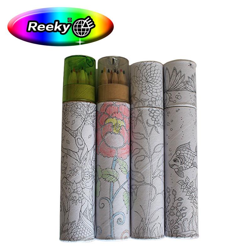 Công nghệ tiên tiến ống giấy với nắp bút chì màu sắc thiết lập