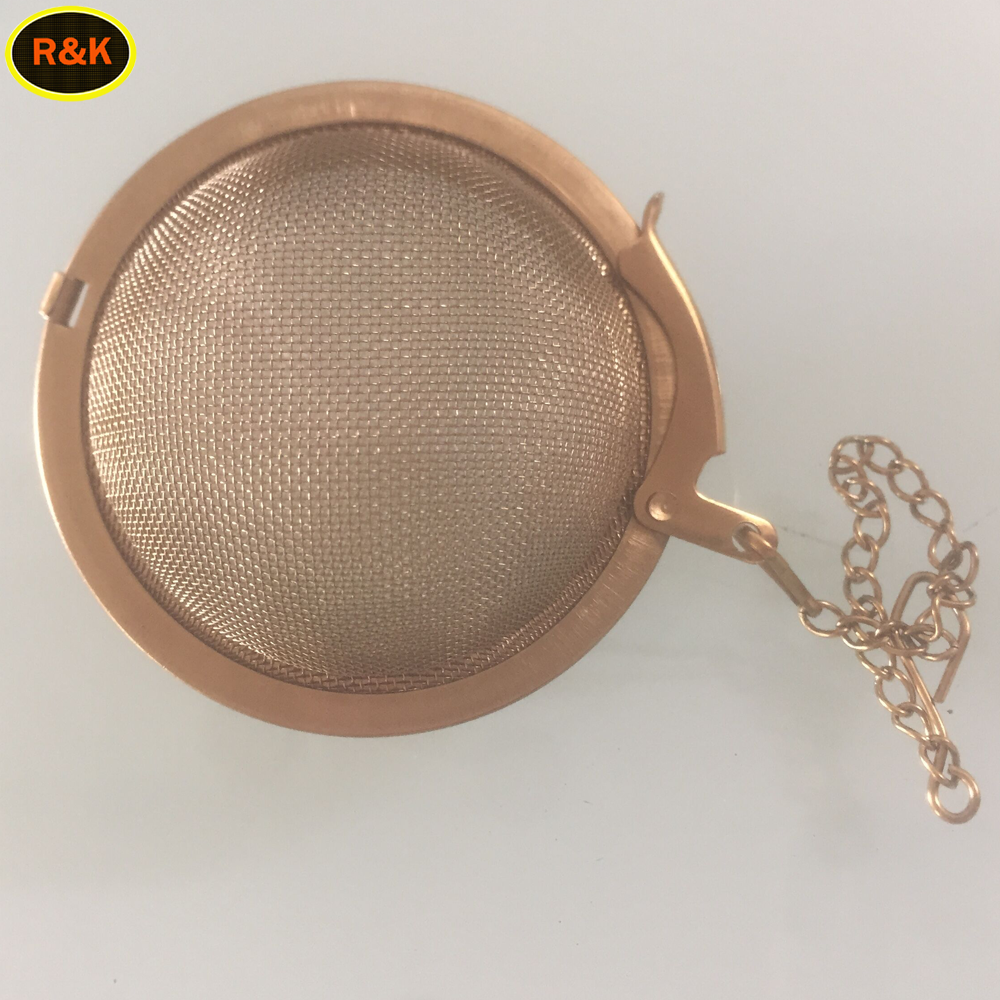 5.5 cm gold coated stainless steel tea infuser ball