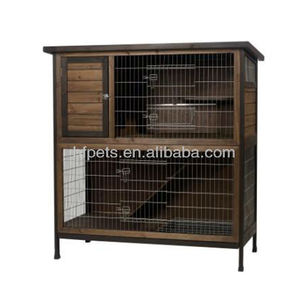 Our factory selling wooden rabbit hutch , rabbit run