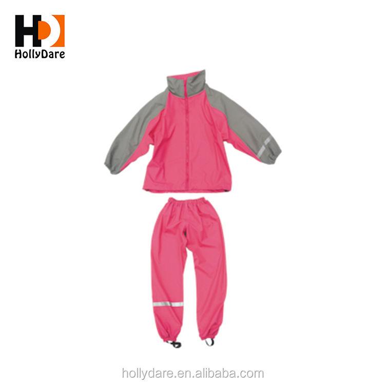 Mignon École Enfants Enfant Clair <span class=keywords><strong>Imperméable</strong></span> Avec Un Pantalon Rainsuit