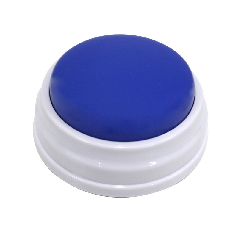 In stock custom message sound talking push recordable button for learning
