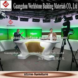 high end furniture tv news studio desk