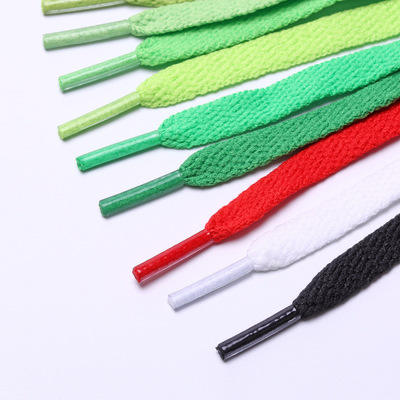 High Quality 8mm Multi Color Polyester Flat Shoelaces hickies shoelace