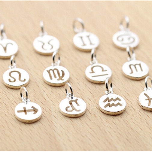 Fashion Charm S925 Sterling Silver zodiac as a accessories for bracelet