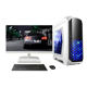 High quality DJS Tech factory support win 10 gamer pc desktop computer with 24 inch monitor
