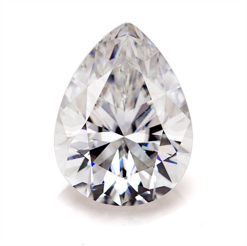 12.5X7.5mm D FL white color crushed ice pear cut synthetic moissanite loose diamond wholesale prices for jewelry making