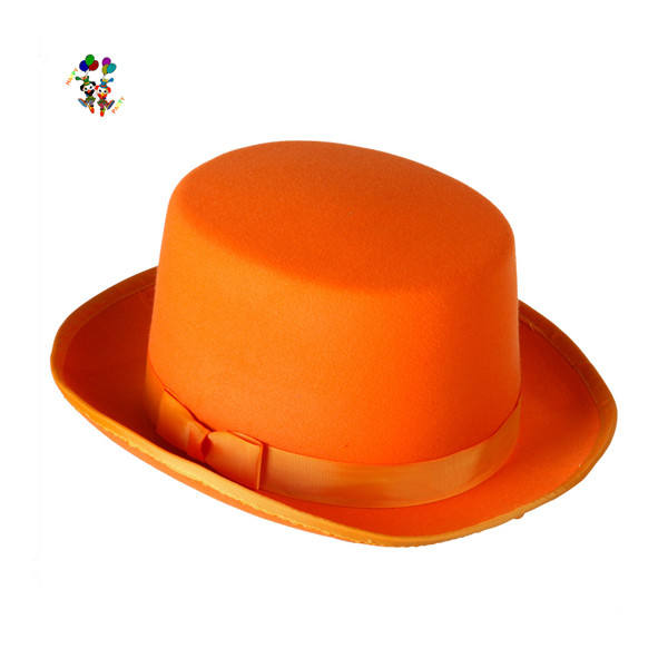 Cheap Felt Adult Orange Tuxedo Costume Party Hats HPC-0283