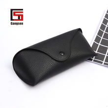 classic luxury black leather sunglass bag eye glasses case