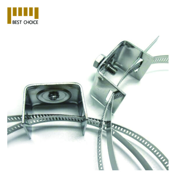 Stainless steel mounting pole clamps brackets