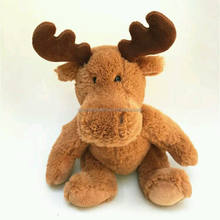 Cute custom Customized plush Christmas Moose,plush brown deer,christmas decorative deer