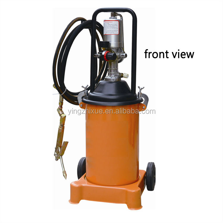 12 to 35L Air Operated High-Pressure Grease Pump With Hose and Universal Control Gun