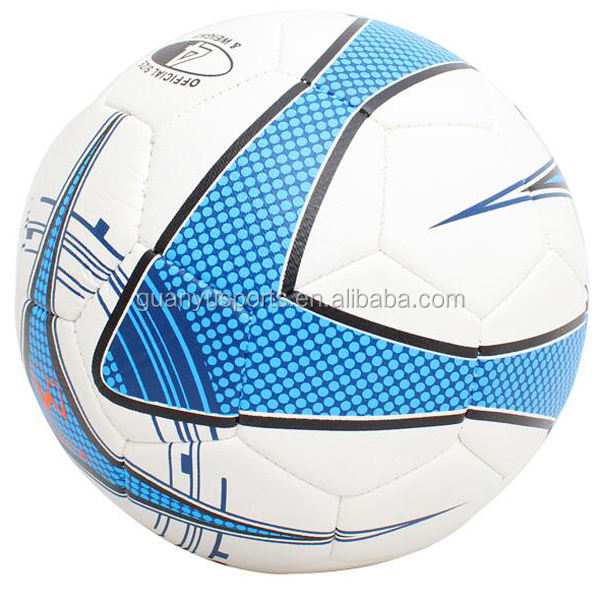 Promotional soccer ball size 5# hand sewing PU leather material brand custom logo