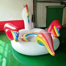 factory wholesale top quality water partk and beach sea side toy newest huge 6 person inflatable Unicorn Party Bird water Island
