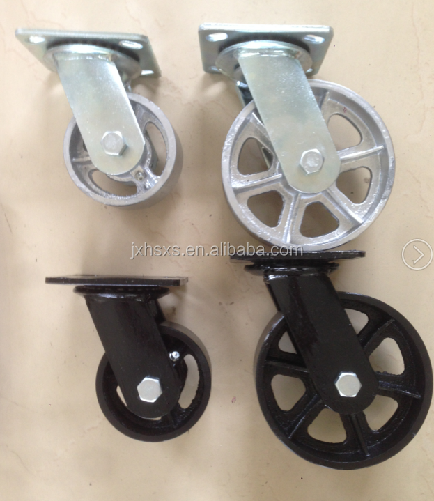 industrial pvc side brake rustic furniture wheel caster