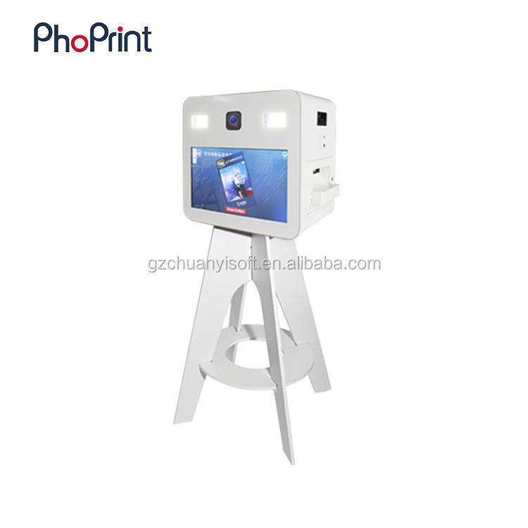 Multifunction Photo Booth Kiosk Advertisement On Printed Photo Template