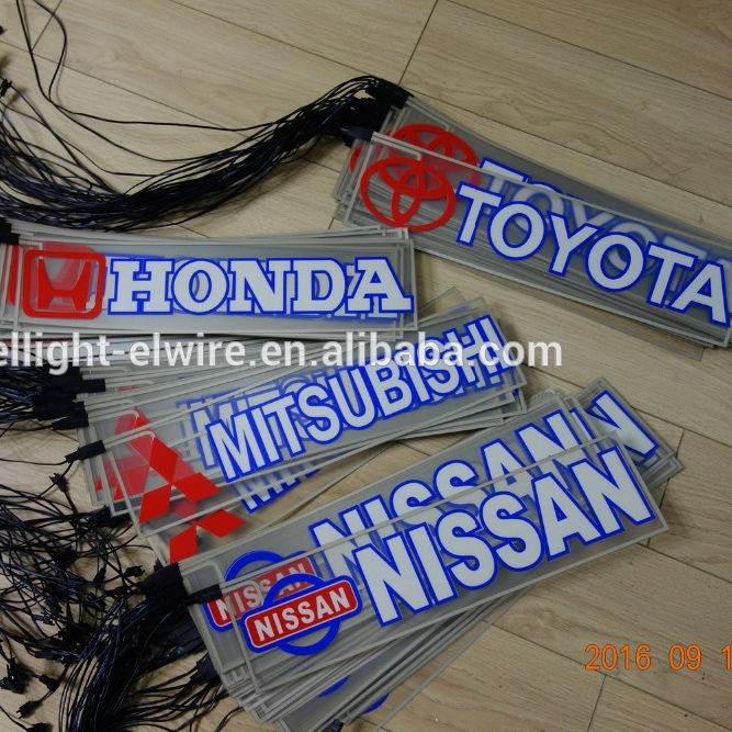 400mmX100mm SKODA Automobile rear windshield EL car sticker/SKODA 400mmX100mm EL glow Car Logo