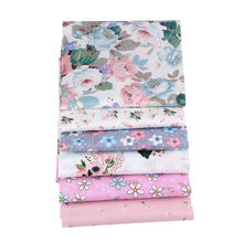 Pink Floral Printed Twill 100% Cotton Fabric For Baby Bedding DIY Sewing