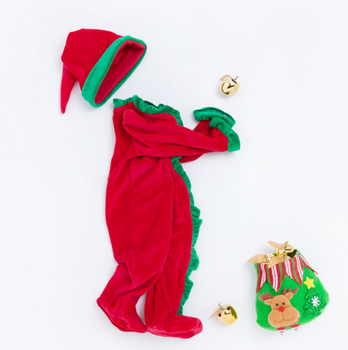 S50891A 2018 New christmas baby rompers cute kid's jumpsuits infant baby clothing