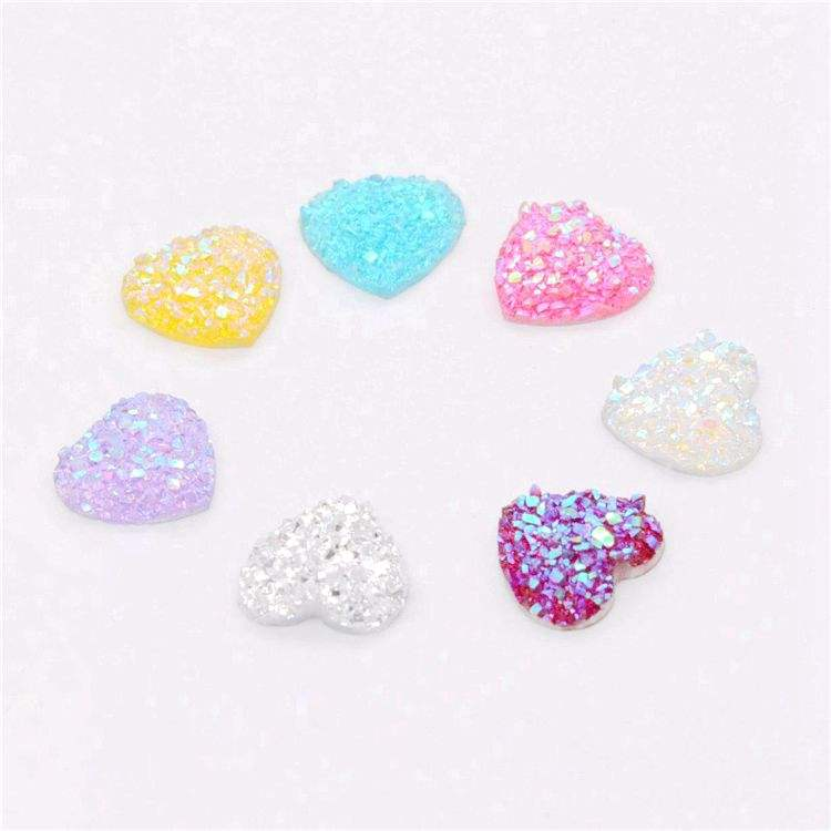 New sale 12mm heart charm multicolor resin connectors mixed lucite material for bracelet necklace pendant