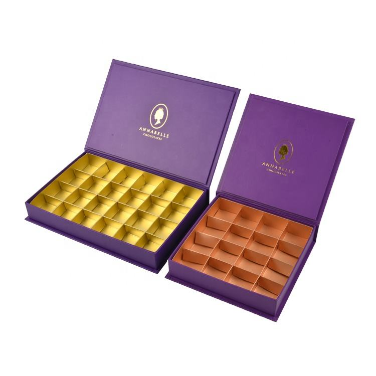 Organic chocolate empty big box high-end flip chocolate gift box empty for gift set