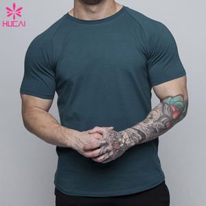 Custom Active Men Fitness Shirt Breathable Cotton Gym t shirt