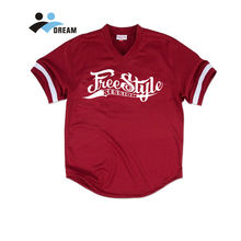 Custom Design V Neck Pullover Sublimated Baseball Jersey
