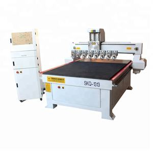 High efficiency multi heads CNC glass cutting machine for sale