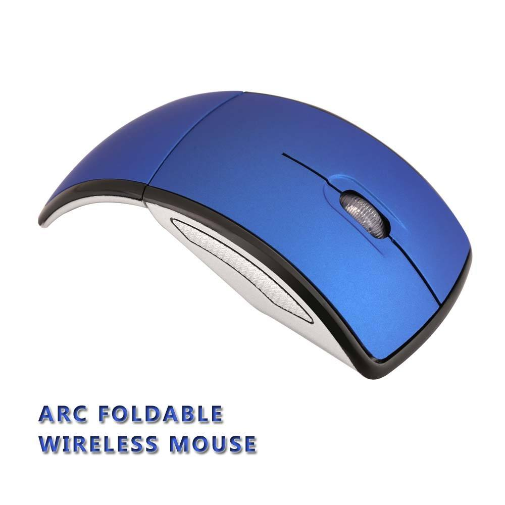 Foldable Arc Mouse Promotional Gift Mice Folding Arc Wireless Mouse