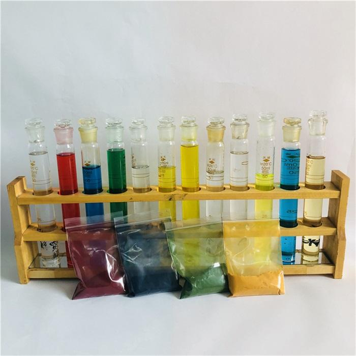 cosmetic grade high quality water-based colour pigment powder natural mica red/blue/green/yellow for soap, shampoo