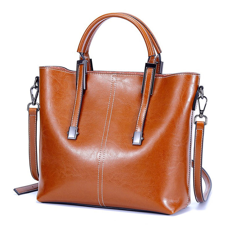 Beautiful classic low price and high quality fashion genuine leather very popular brand tote ladies bag handbags