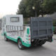 Newest electric dry cargo box truck for sale with CE certificate from China