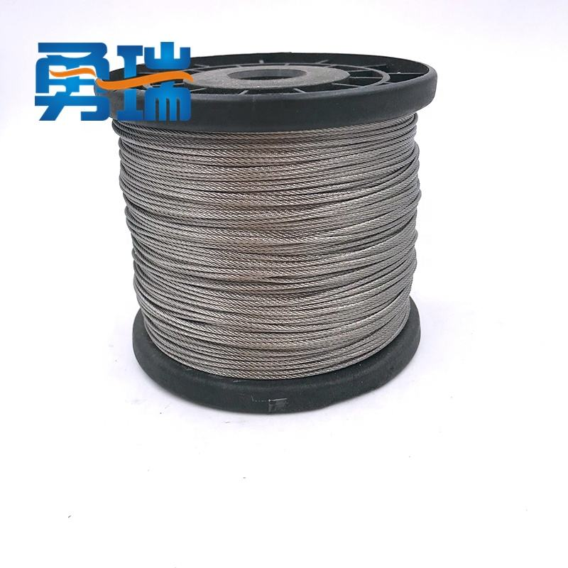 High quality 304 stainless steel wire rope 0.4mm-4mm 7*7 good durability