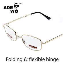 Whosale 2019 folding reading glasses cheap metal frame read glasses spring hinge readers