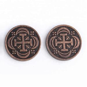 Cheap Printed Custom Logo Different Size Metal Arcade Game Token Coins