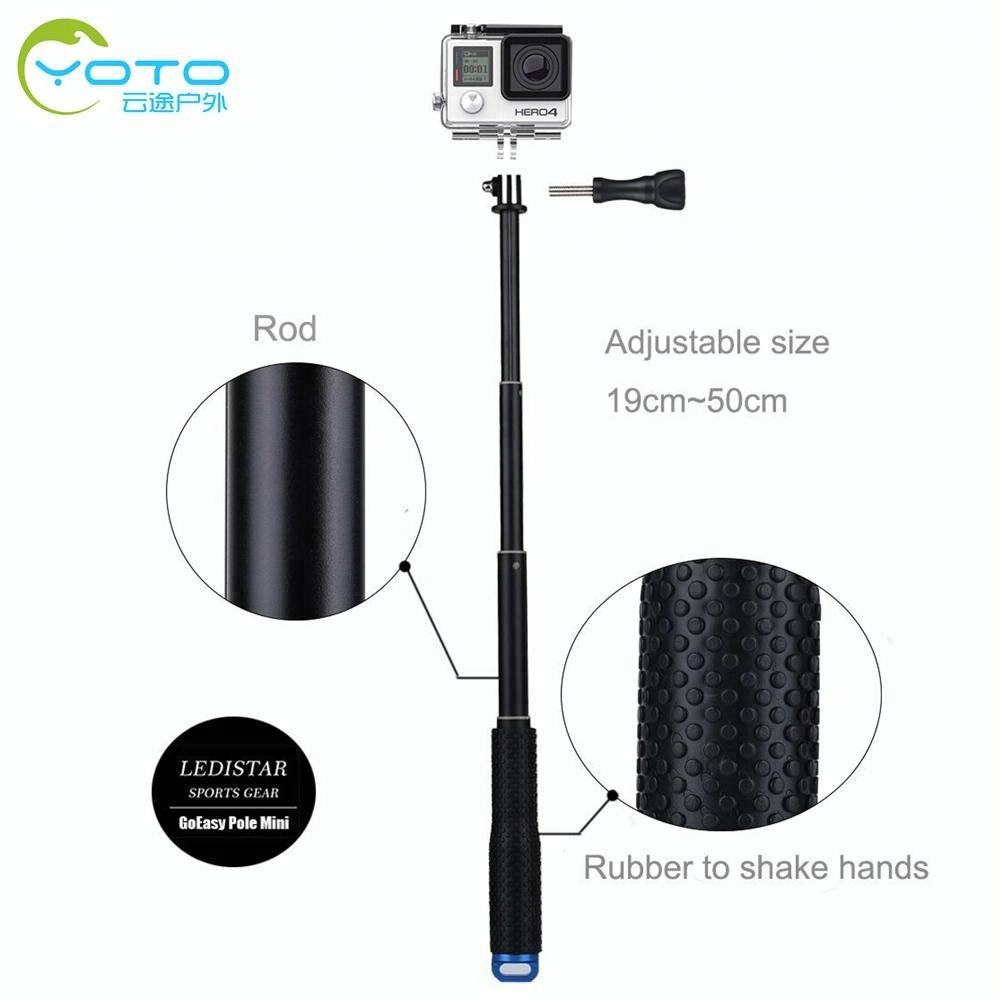 2018 Trending Portable Handheld Telescopic Monopod Selfie Stick Pole For Gopro Camera