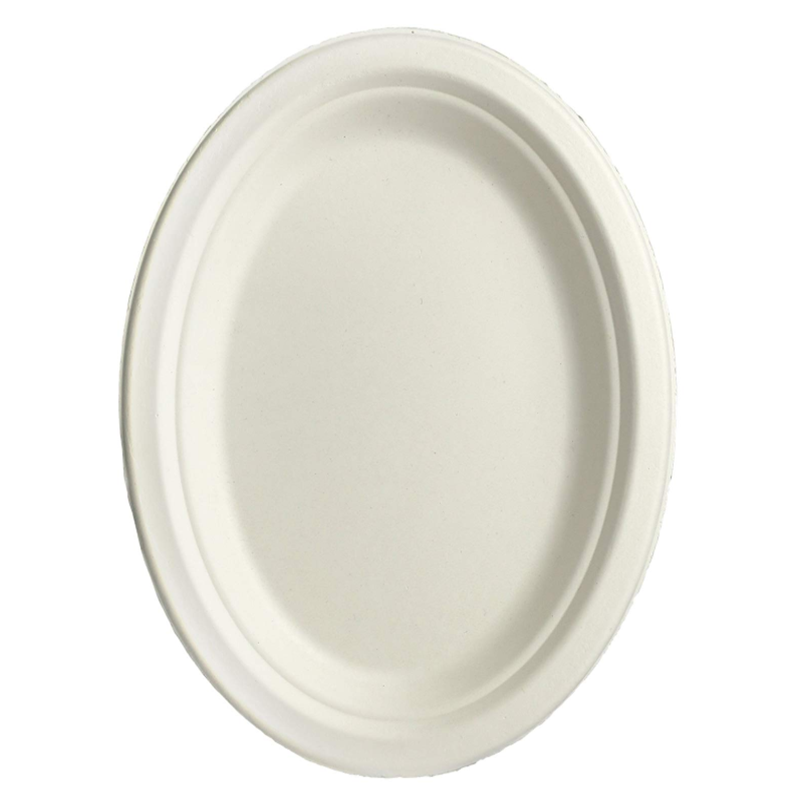 VOBAGA compostable sugarcane food 12 inch paper plate